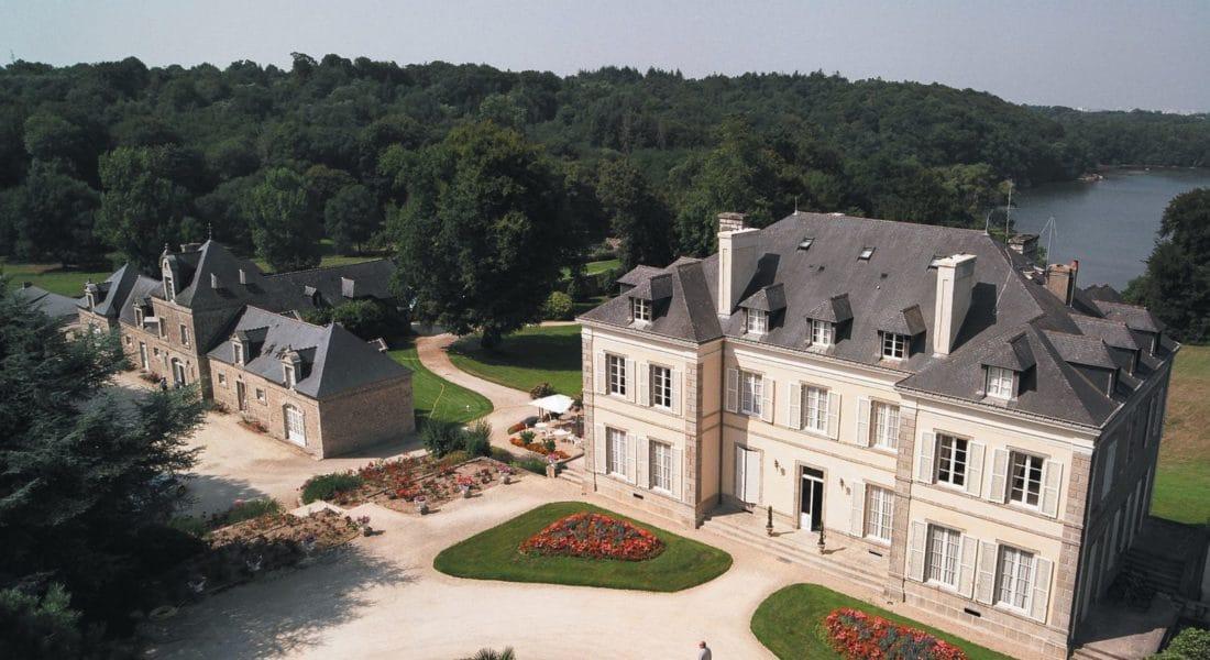 Vue du ciel © Chateau de Locguenole