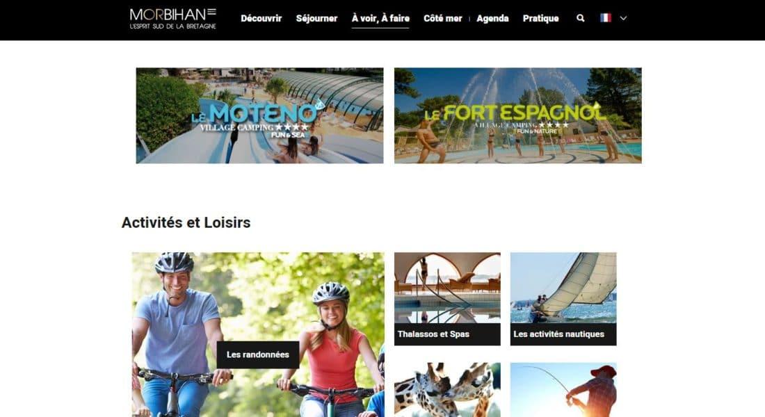 Encart publicitaire packs pro sur morbihan.com