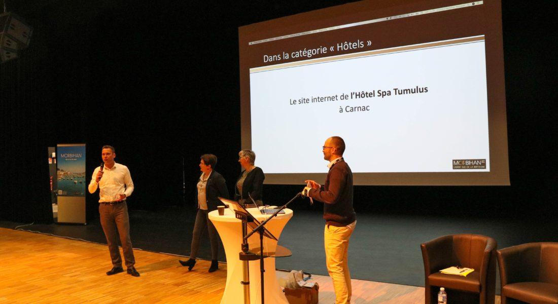 remise des prix meilleurs sites web 2018 - Morbihan Tourisme