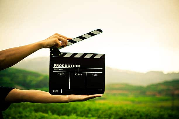 clapper board with hand videos green morbihan