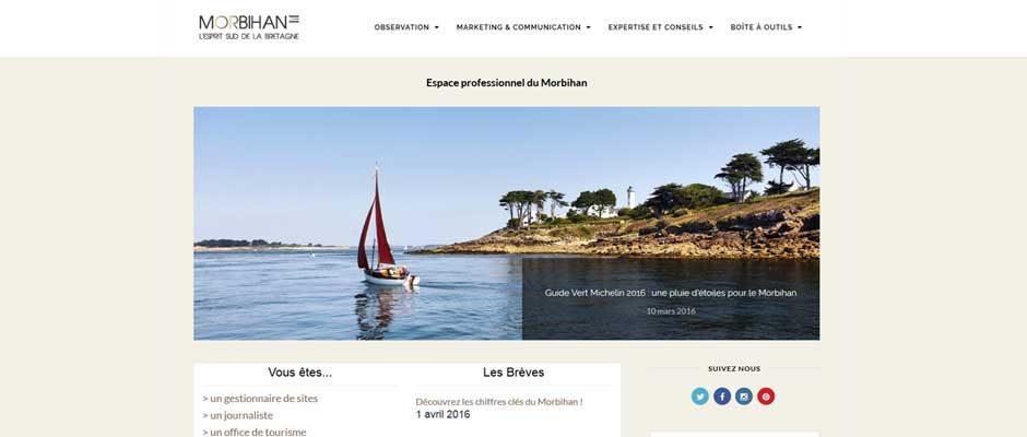 espace pro Morbihan Tourisme