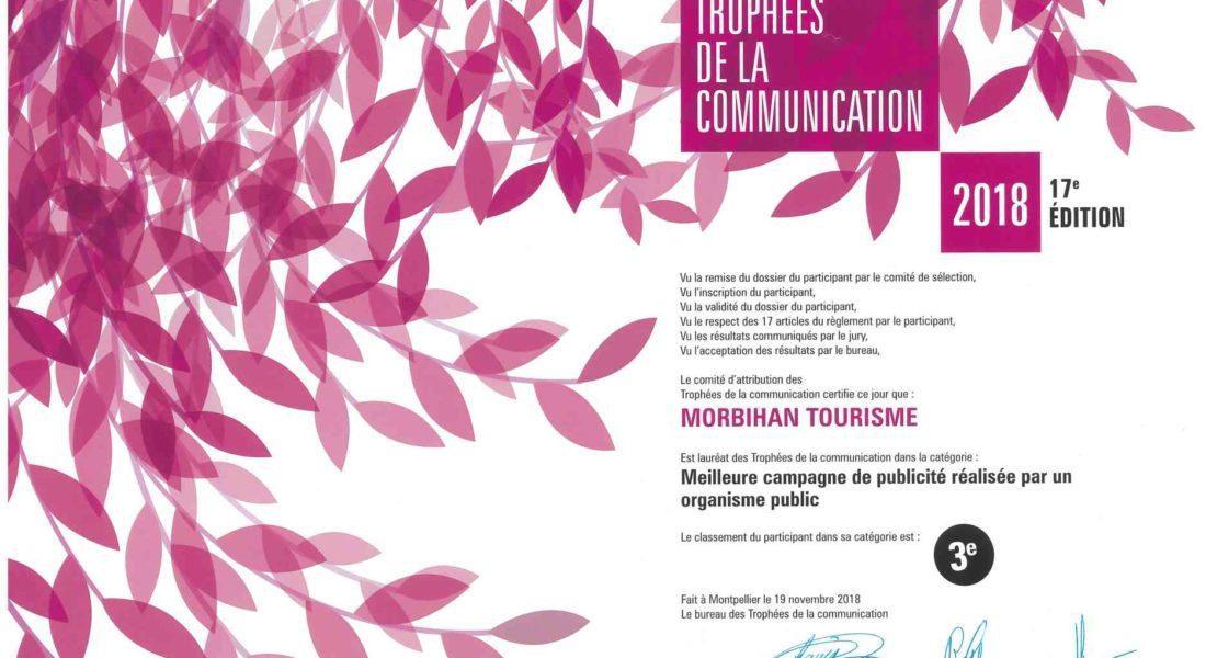Trophées de la Communication : la campagne de publicité 2018 du Morbihan récompensée !