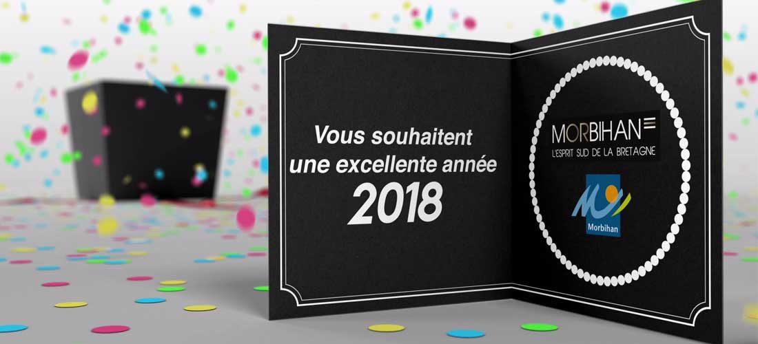 Morbihan Tourisme vous souhaite une bonne année 2018 !
